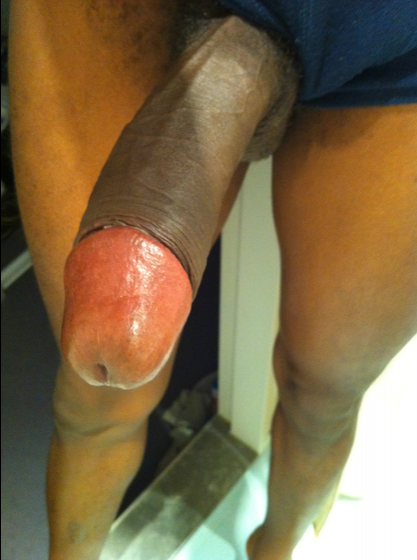 Self Pic with a very long and uncut black dick