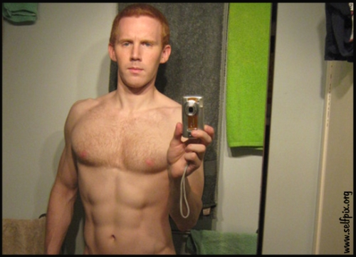 Nude male ginger selfies