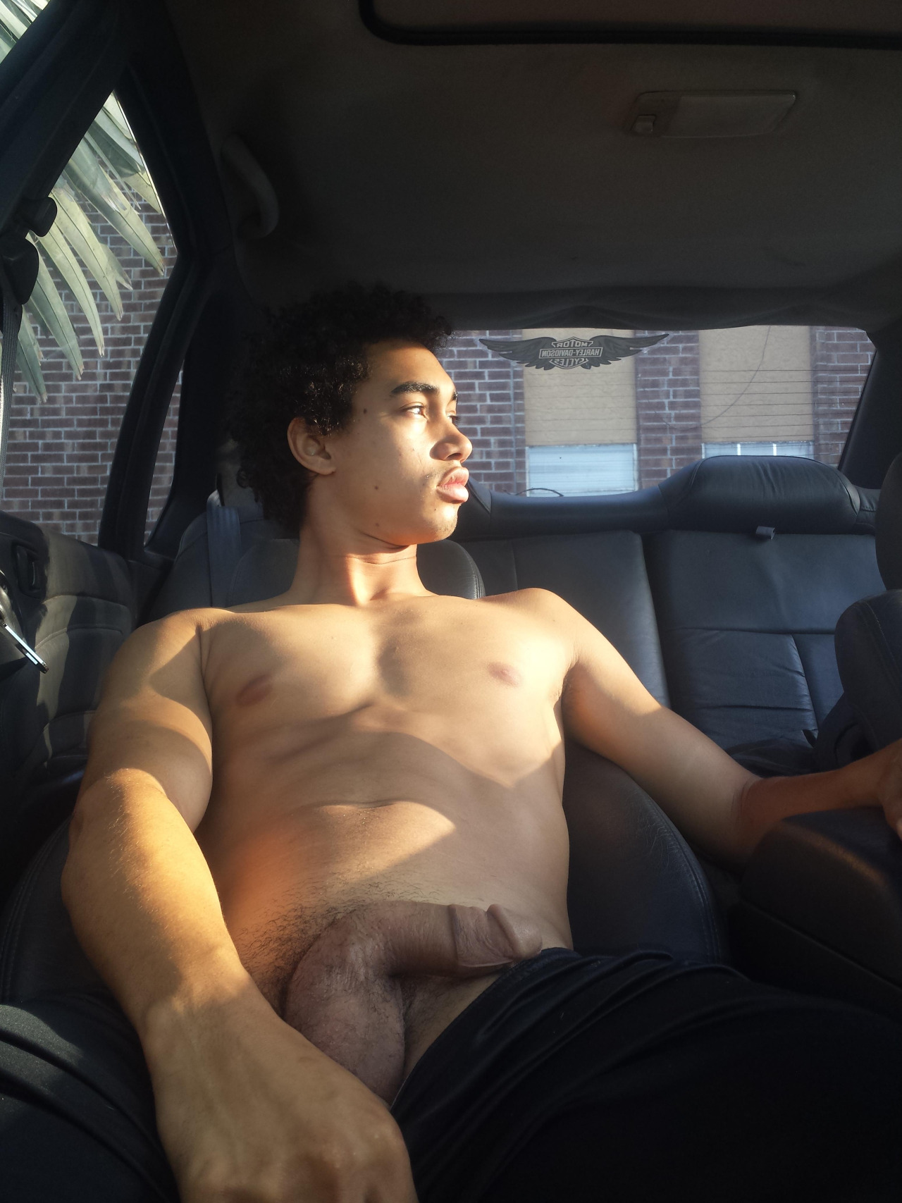 Bad Black Teen Boy (19) get's high and plays with Penis